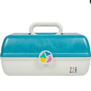 Caboodles On The Go Blue & White Makeup Organizer
